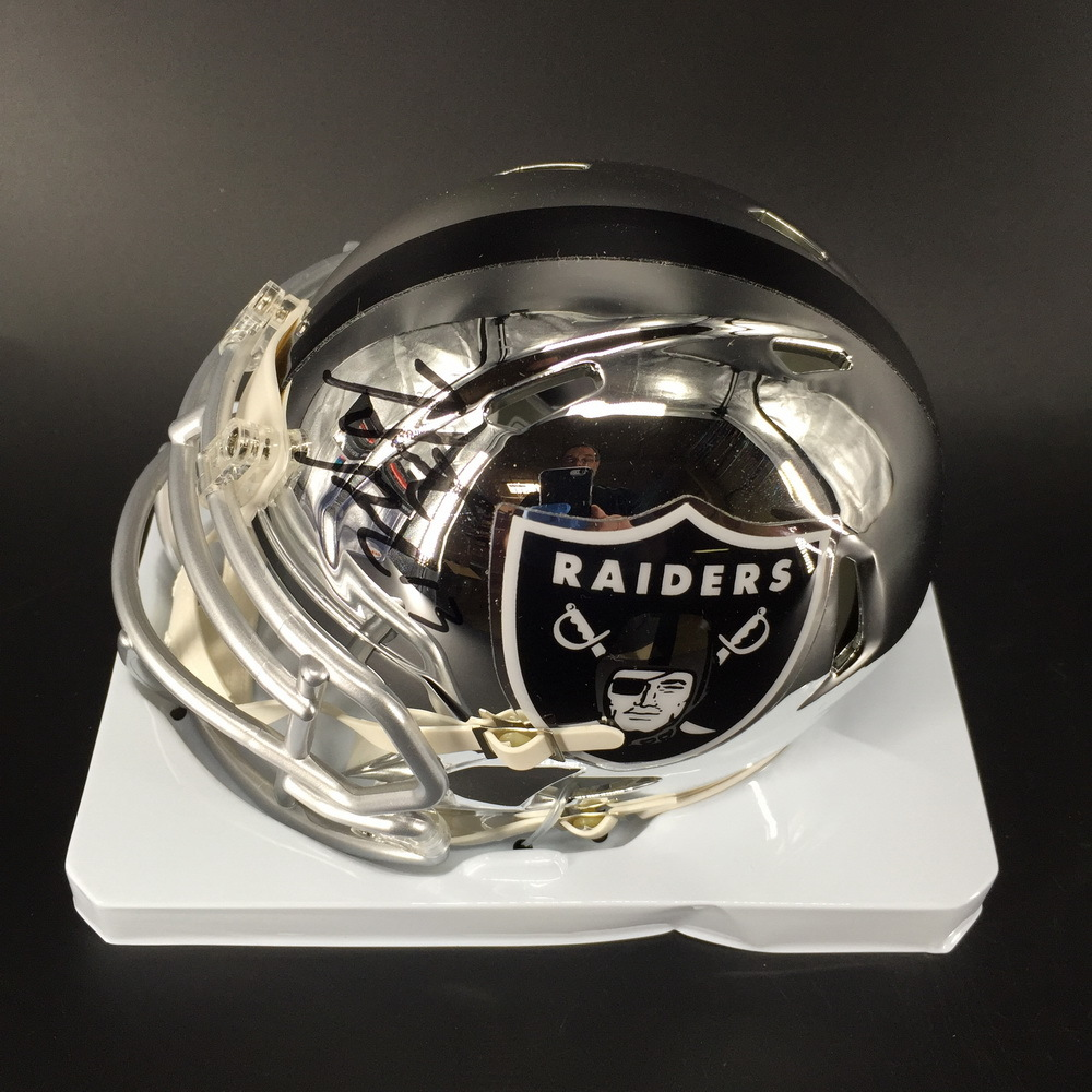 NFL - Raiders Hunter Renfrow Signed Chrome Mini Helmet