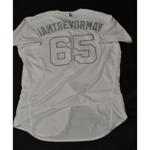 """Photo of Trevor """"IAMTREVORMAY"""" May Minnesota Twins Game-Used 2019 Players' Weekend Jersey"""