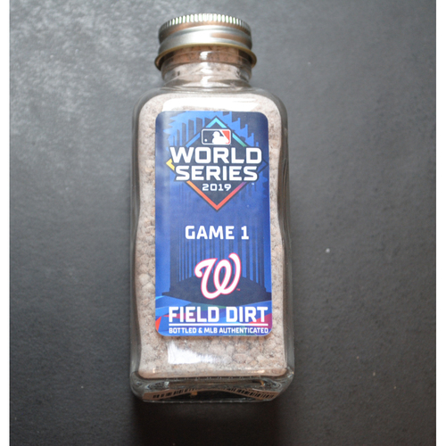 Photo of 2019 World Series Game-Used Dirt Jar - Game 1 - Minute Maid Park