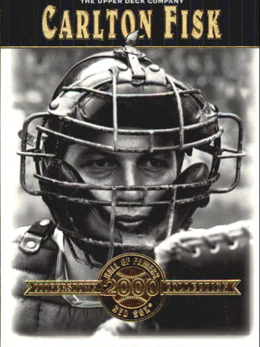 Photo of 2001 Upper Deck Hall of Famers #34 Carlton Fisk