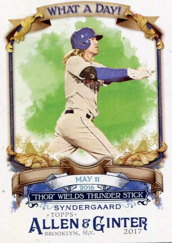 Photo of 2017 Topps Allen and Ginter What a Day #WAD57 Noah Syndergaard