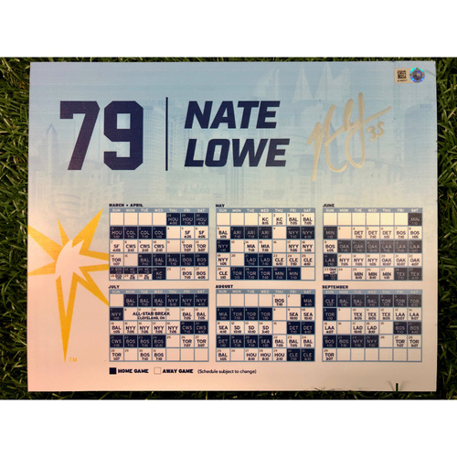 Photo of Team Issued Autographed Locker Tag: Nate Lowe #79