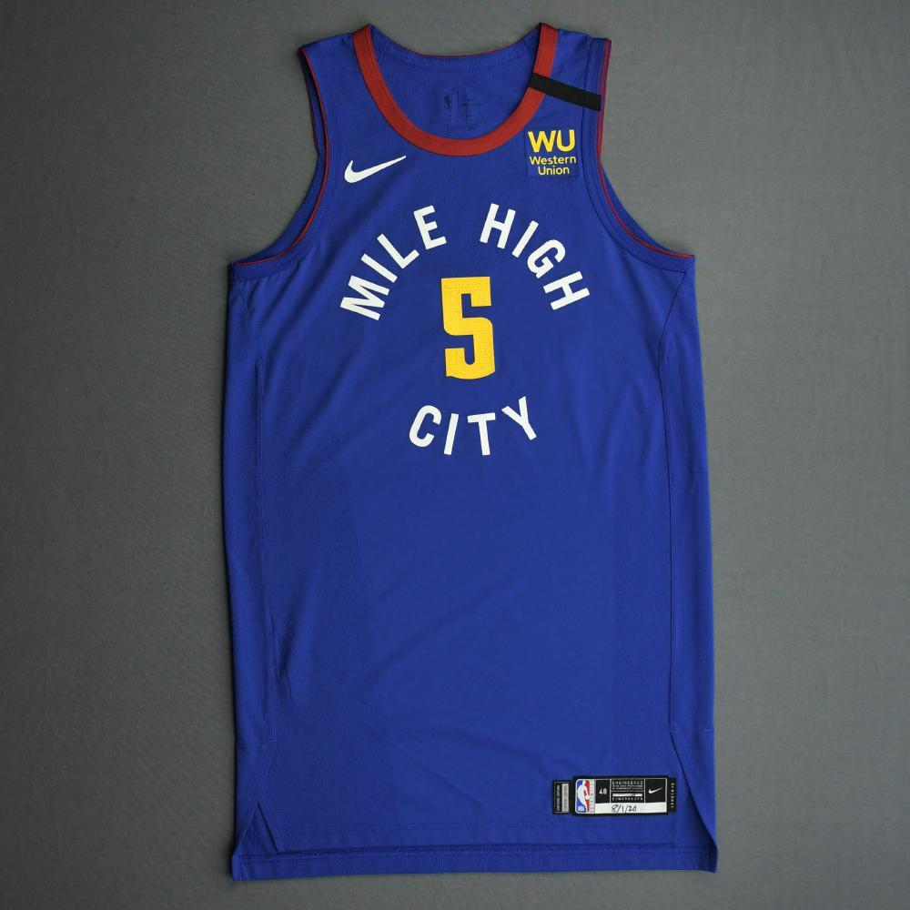 Will Barton III - Denver Nuggets - Game-Issued Statement Edition Jersey - 2019-20 NBA Season Restart