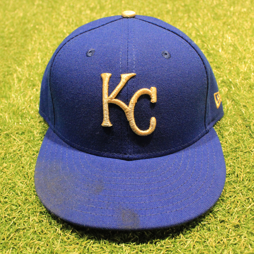 Photo of Game-Used 2020 Gold Hat: Jakob Junis #65 (Size 7 1/4 - DET @ KC 9/25/20)