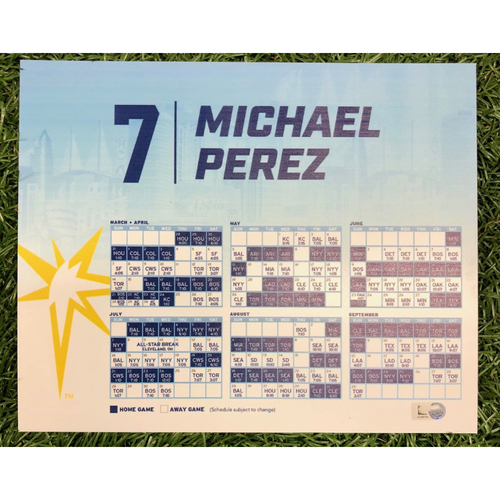 Photo of Rays Baseball Foundation: Game Used Opening Day Locker Tag: Michael Perez - March 28, 2019 v HOU