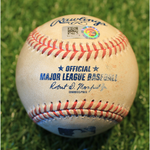 Photo of Game-Used Baseball: Nicky Lopez Sacrifice Bunt & 49th Career RBI (TB @ KC 4/21/21)