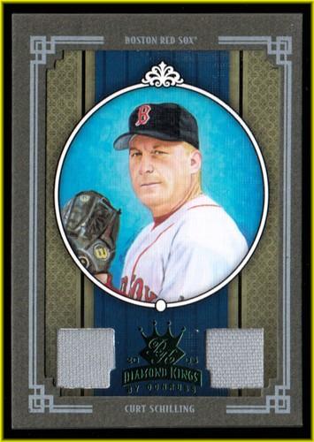 Photo of 2005 Diamond Kings Materials Framed Green #327 Curt Schilling Sox Jsy-Jsy/25
