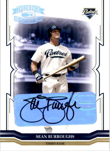 Photo of 2005 Throwback Threads Signature Marks #85 Sean Burroughs/25