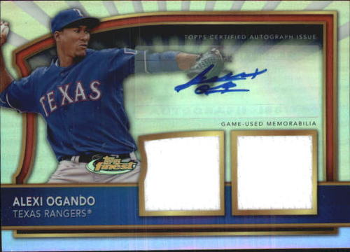 Photo of 2011 Finest Rookie Dual Relic Autographs Refractors #89 Alexi Ogando