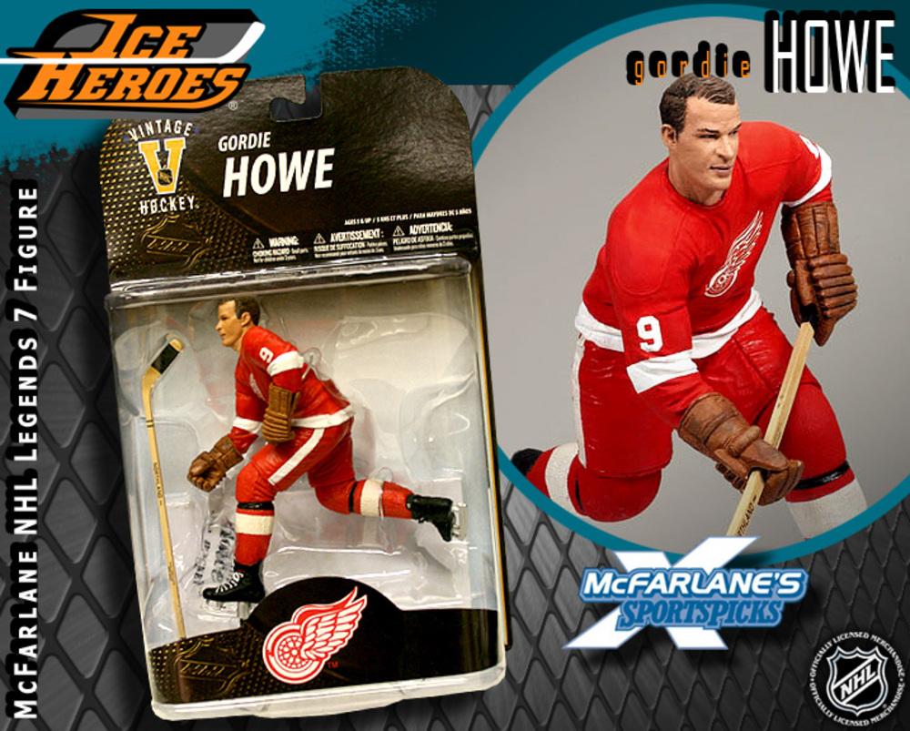 GORDIE HOWE McFarlane Legends 7 Action Figure - MIB - Detroit Red Wings