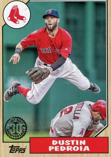 Photo of 2017 Topps '87 Topps #8761 Dustin Pedroia