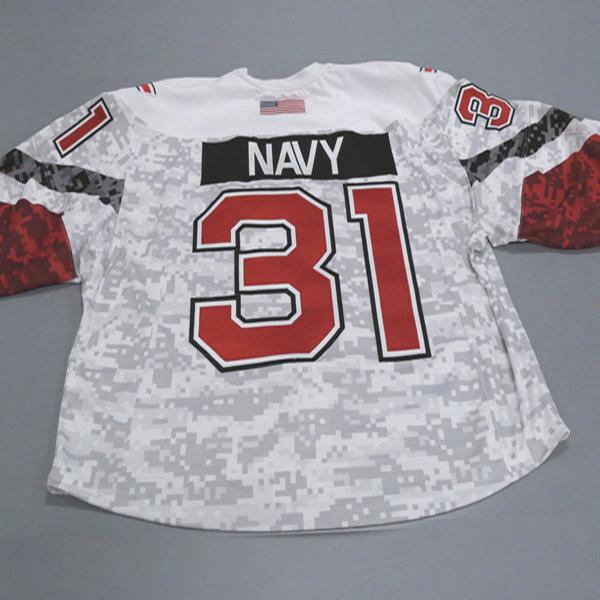 "Photo of Ohio State Ice Hockey Military Appreciation Jersey #31 ""Navy"" / Size 60G"