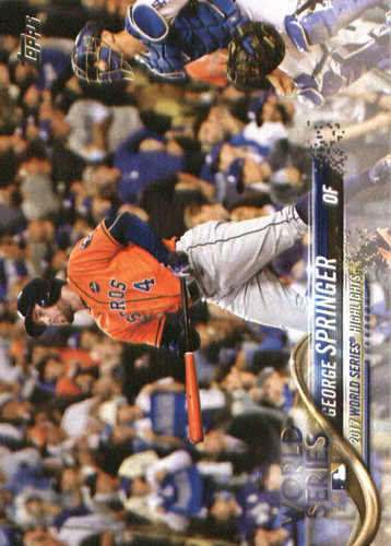 Photo of 2018 Topps #329 George Springer WS HL