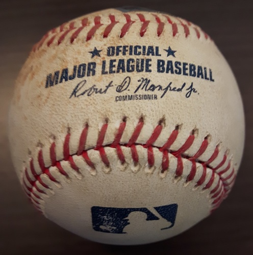 Photo of Authenticated Game Used Baseball - August 25, 2017: Bunt Single by Byron Buxton against J.A. Happ (Top 5)