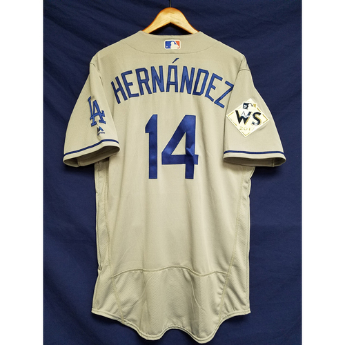 "Photo of Enrique ""Kiké"" Hernandez 2017 Road World Series Team-Issued Jersey"