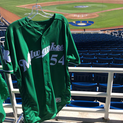Photo of Taylor Williams 2018 Team-Issued St. Patrick's Day Jersey
