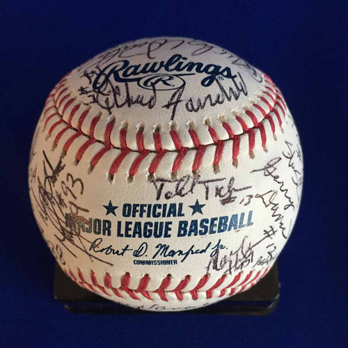UMPS CARE AUCTION: 2018 Umpire Staff Signed Baseball - Not MLB Authenticated