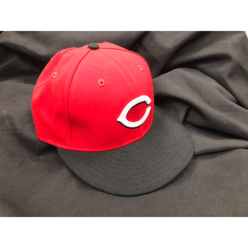 Photo of Devin Mesoraco -- Team-Issued Road Cap -- Worn During 2018 Season