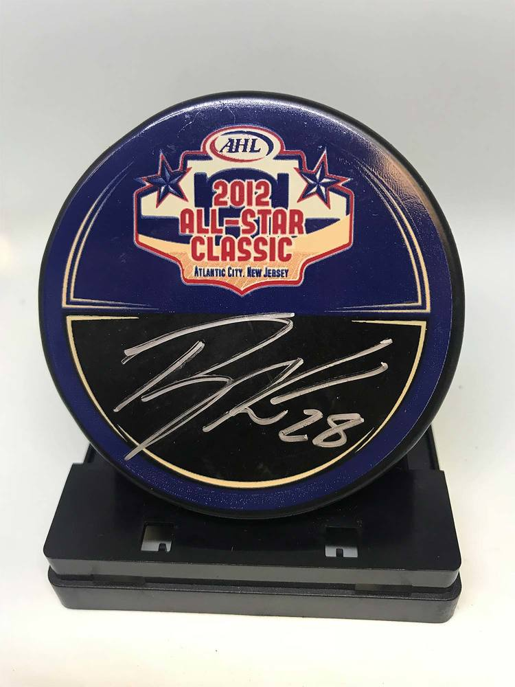 2012 AHL All-Star Classic Souvenir Puck Signed by #9 Ryan Keller