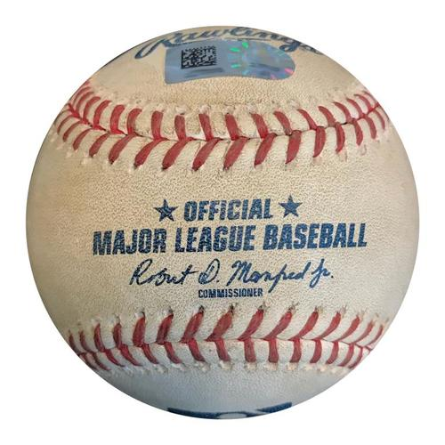 Photo of Game-Used Baseball from Pirates vs. Giants on 5/11/18 - Colin Moran RBI Double