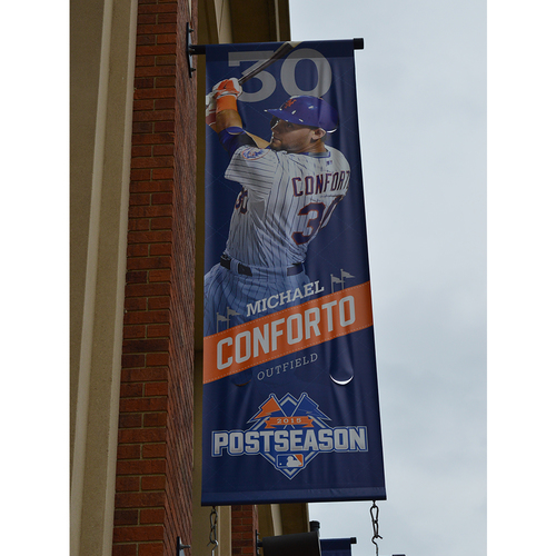 Photo of Michael Conforto #30 - Citi Field Banner - 2015 Postseason