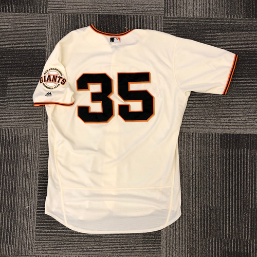 Photo of San Francisco Giants - 2017 Game-Used Jersey - Brandon Crawford - 2 HRs! 4 RBIs! - Size 48