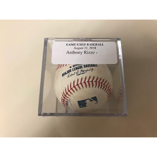 Photo of Game-Used Baseball: Pitched Ball to Anthony Rizzo