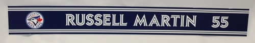 Photo of Authenticated Game Used 2018 Locker Name Plate - #55 Russell Martin