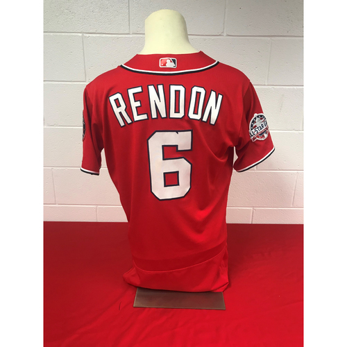 Photo of Anthony Rendon Game-Used 2018 Red Jersey with All Start Game Patch