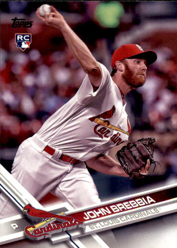 Photo of 2017 Topps Update #US105 John Brebbia RC