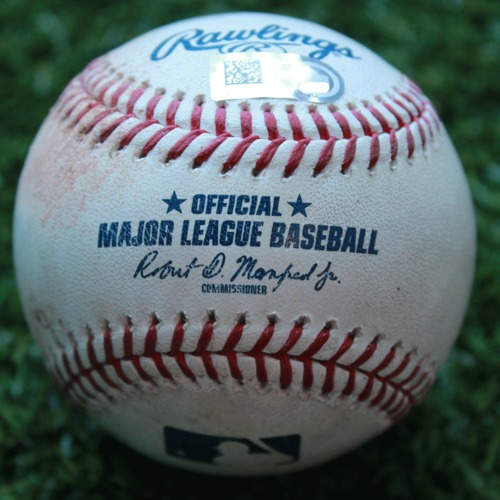 Game-Used Baseball: J.T. Realmuto 121st Career Double (PHI @ KC - 5/10/19)