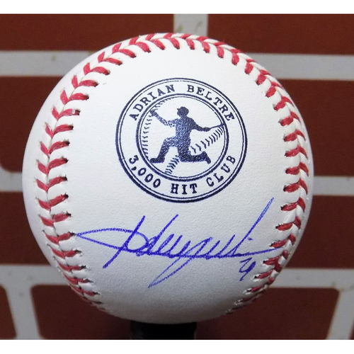 Photo of Adrian Beltre 3,000 Hit Logo Autographed Baseball