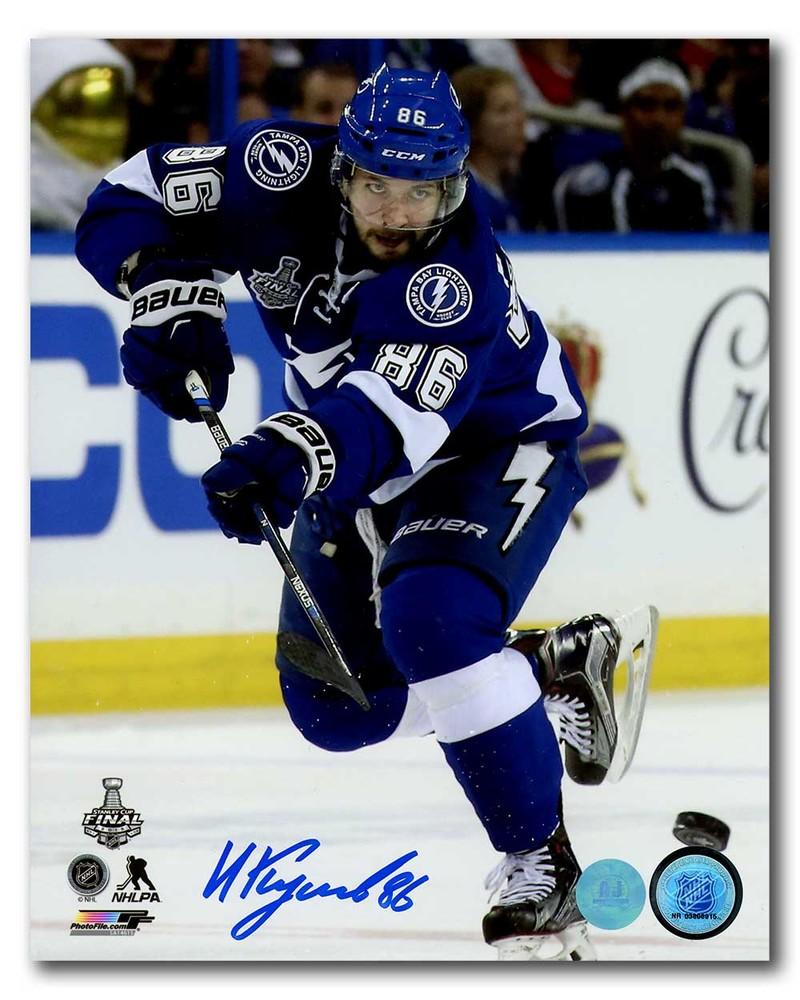 Nikita Kucherov Tampa Bay Lightning Signed 2015 Stanley Cup Final 8x10 Photo