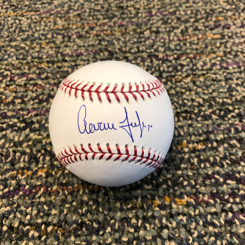 Buster Posey BP28 Foundation - Autographed Baseball signed by New York Yankees Right Fielder Aaron Judge