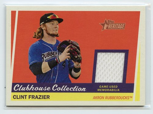 Photo of 2016 Topps Heritage Minors Clubhouse Collection Relics #CCRCF Clint Frazier