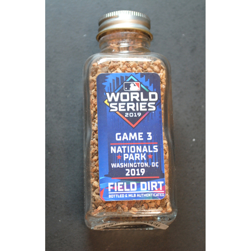 Photo of 2019 World Series Game-Used Dirt Jar - Game 3 - Nationals Park