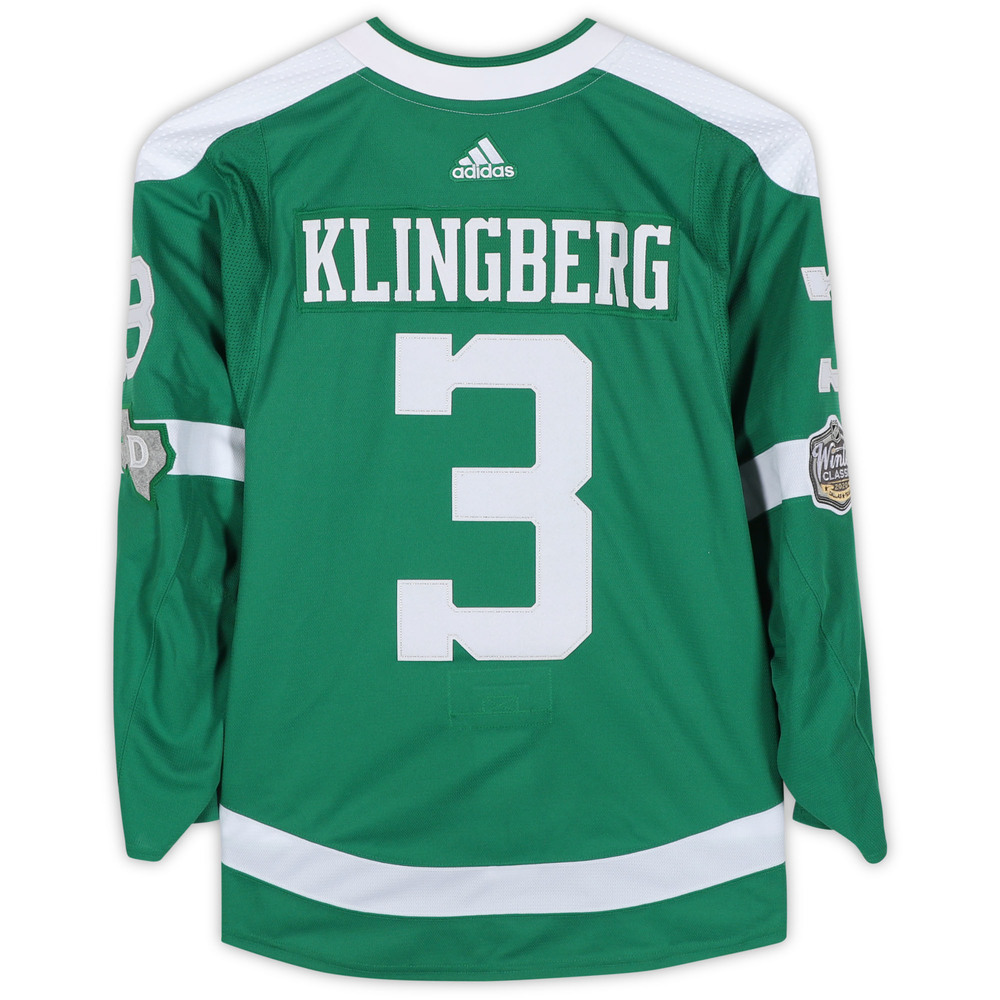 John Klingberg Dallas Stars Game-Used 2020 NHL Winter Classic Jersey - Worn During First Period