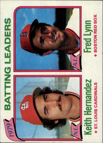 Photo of 1980 Topps #201 Batting Leaders/Keith Hernandez/Fred Lynn