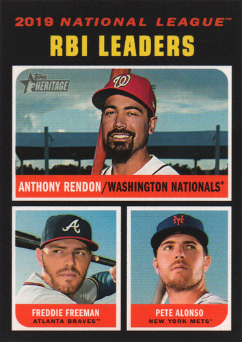 Photo of 2020 Topps Heritage #64 Pete Alonso/Freddie Freeman/Anthony Rendon LL