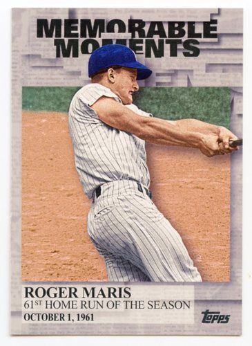 Photo of 2017 Topps Memorable Moments #MM7 Roger Maris