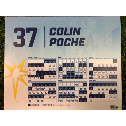 Photo of Team Issued Autographed Locker Tag: Colin Poche #37
