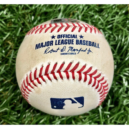 Photo of Game Used Baseball: Charlie Morton Strikes Out Christian Vazquez - August 4, 2020 v BOS