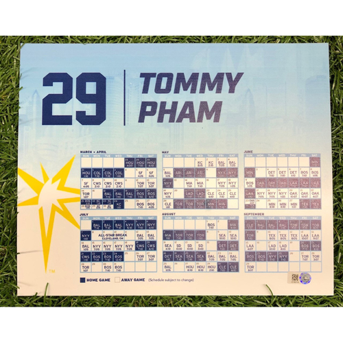 Photo of Rays Baseball Foundation: Game Used Opening Day Locker Tag: Tommy Pham - March 28, 2019 v HOU