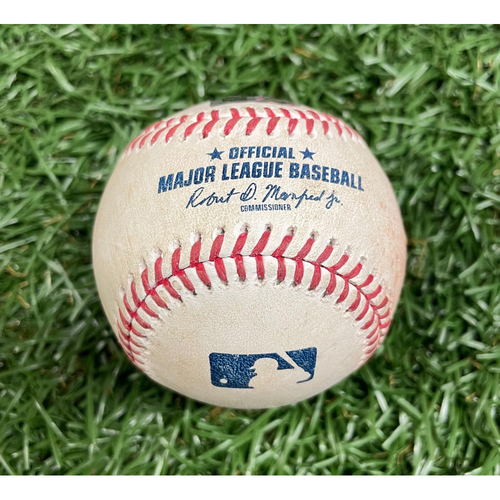 Photo of Game Used ALDS Baseball: Christian Arroyo single off J.P. Feyereisen - Top 8 - October 7, 2021 v BOS