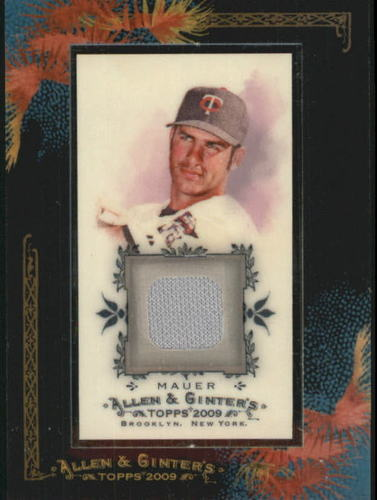 Photo of 2009 Topps Allen and Ginter Relics #JM Joe Mauer Jsy D