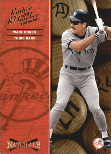 Photo of 2004 Leather and Lumber Naturals #9 Wade Boggs