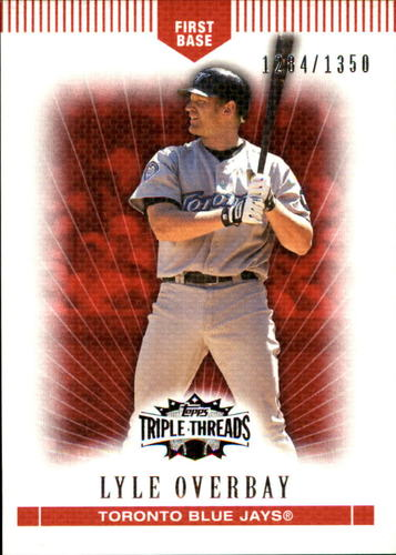 Photo of 2007 Topps Triple Threads #79 Lyle Overbay