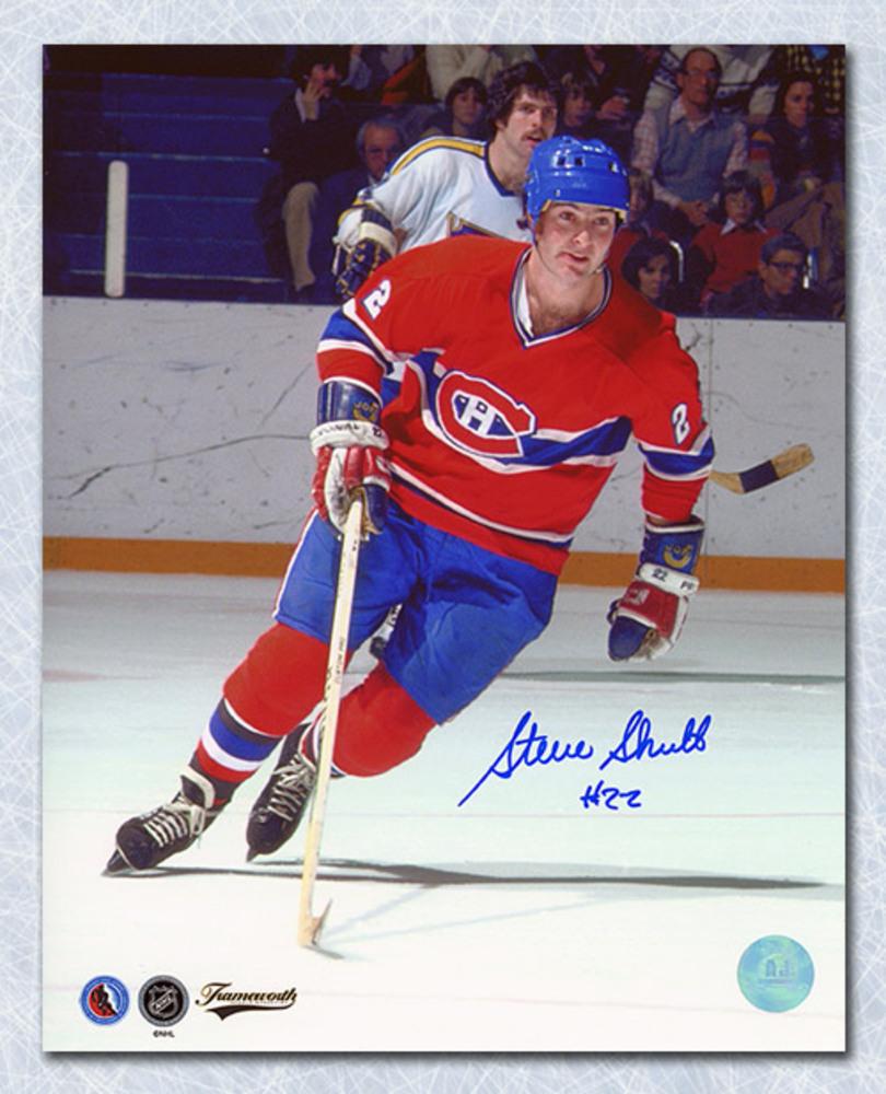 Steve Shutt Montreal Canadiens Autographed Action 8x10 Photo