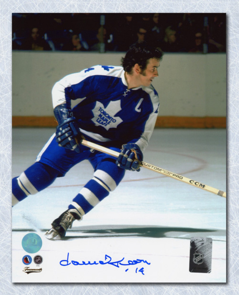 Dave Keon Toronto Maple Leafs Autographed Hockey Action 8x10 Photo