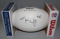 NFL - BROWNS KAMERION WIMBLEY SIGNED PANEL BALL